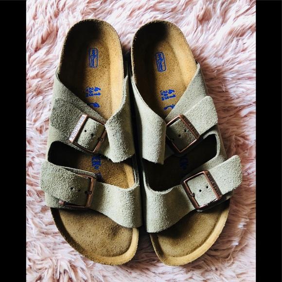 Birkenstock Shoes - Strappy Camper Suede Sandal in Tan - Narrow 3626b9618ce